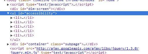 Upravený HTML kód služby Twitter