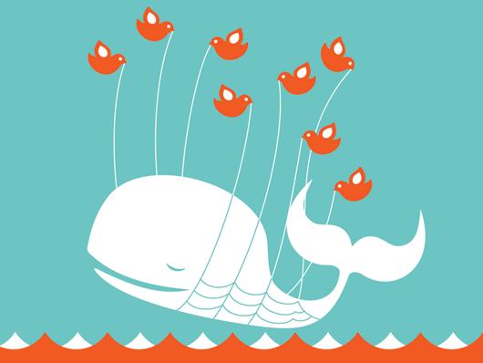 Velice oblíbená, ale taky často vídaná, Fail velryba na Twitter.com