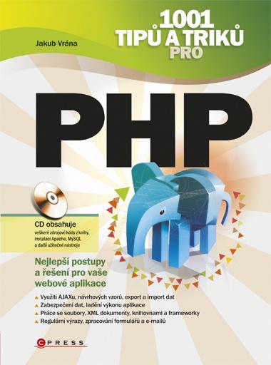 Obálka knihy 1001 tipů a triků pro PHP od Jakuba Vrány.