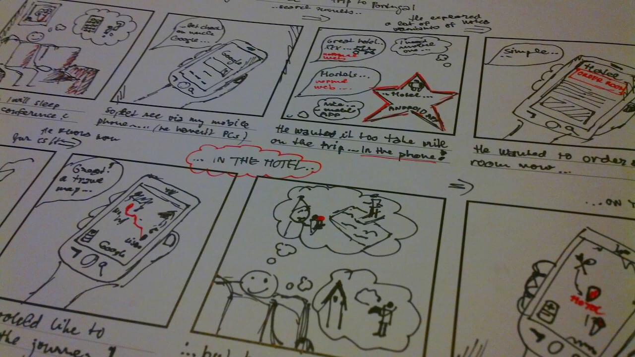 Pro storyboardy je šablona ideální, např. 8up.