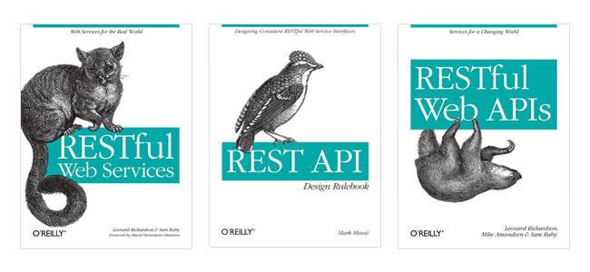 Několik knížek onávrhu API, které lze získat od vydavatelství O'Reilly.