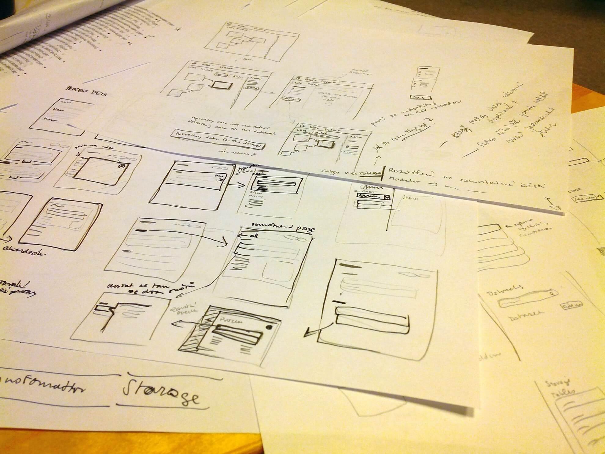 Skicování není umělecká činnost, ale nástroj pro efektivní vytváření nápadů a komunikaci.