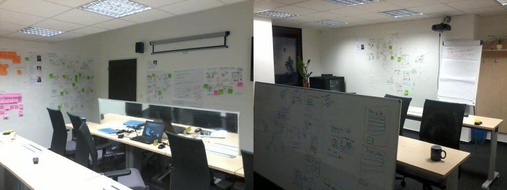 V Dobrém webu jsme pro jeden zprojektů využili stěny vUsability Labu na všechny naše nápady amyšlenky.