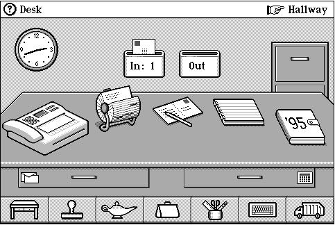 Magic Cap UI - jak vypadalo rozhraní pro jeden z prvních kapesních počítačů.