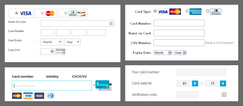 Zaplatit kartou můžete vlastně pomocí běžného formuláře, ve kterém je nápověda, pokud byste si nevěděli rady.