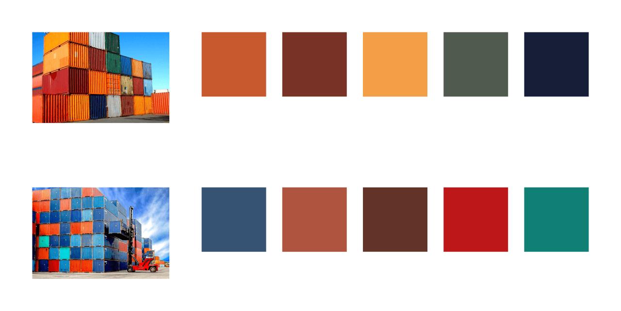 Zvažoval jsem také barvy podle přepravních kontejnerů.