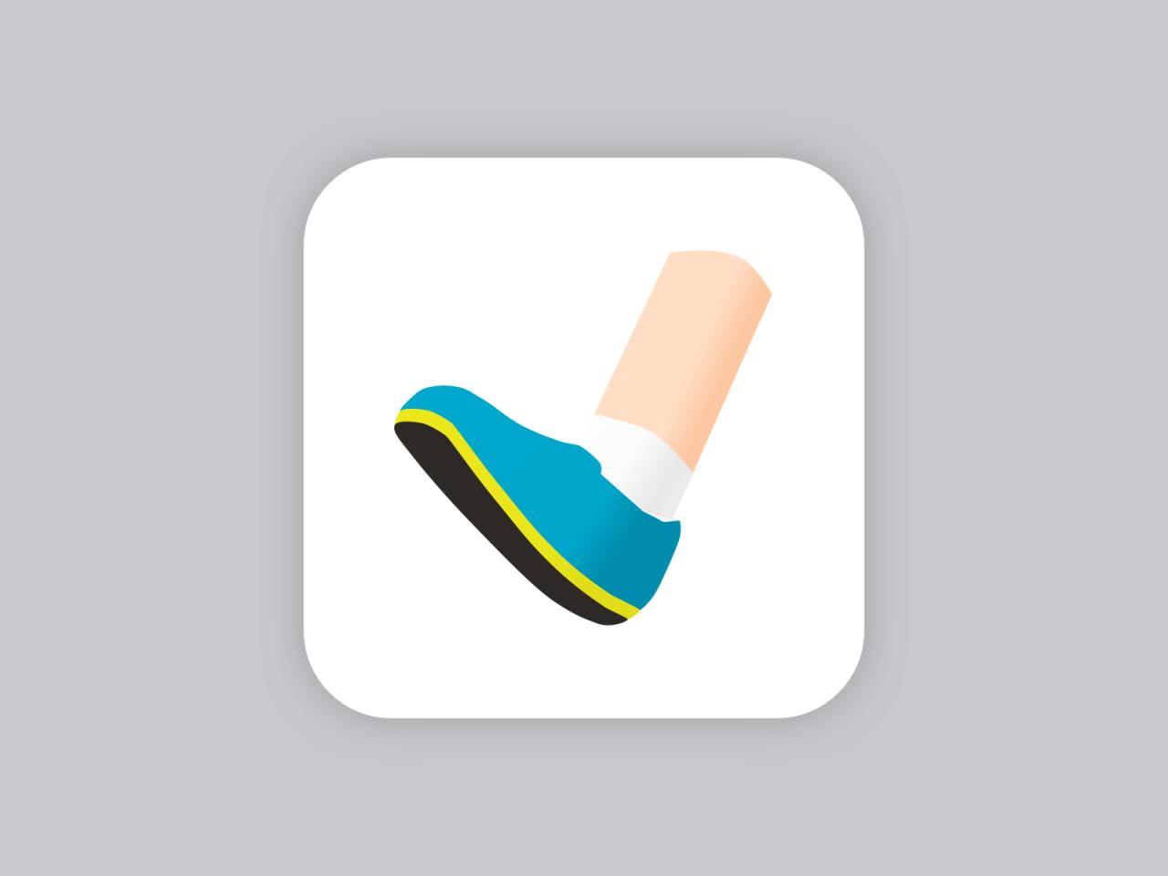 Ikona pro aplikaci na sledování sportovních aktivit.