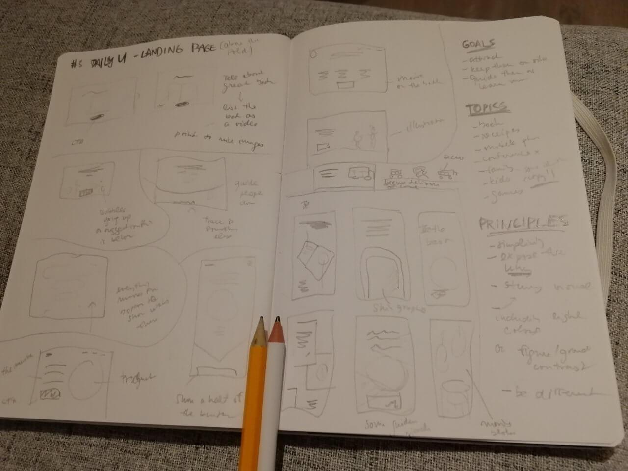 Pro stránku jsem zkoumal spíš možné formy, než odlišné koncepty.