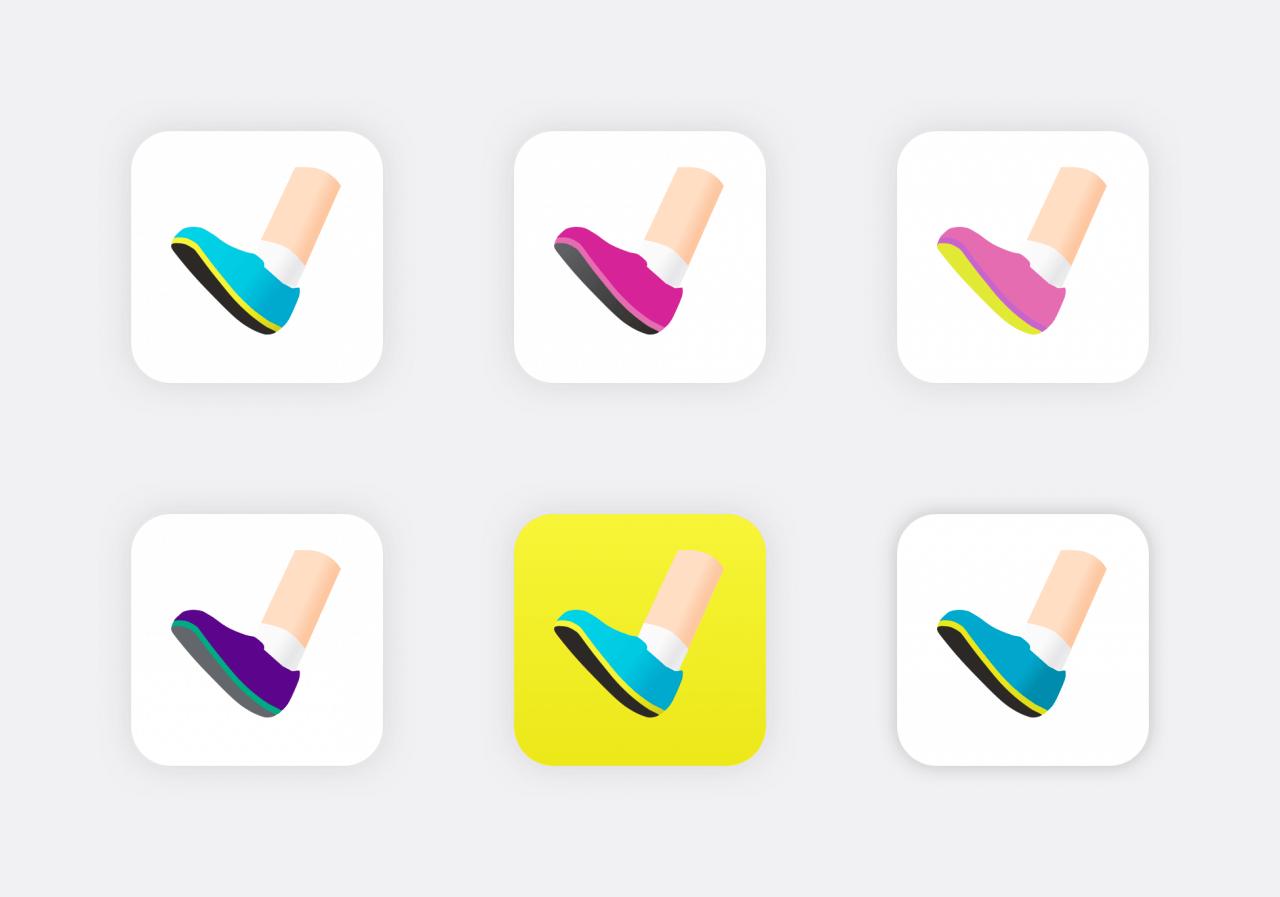 Pro botu jsem různé barvy, díky čemuž jsem objevil případnou možnost dvou aplikací pro ženy a může.