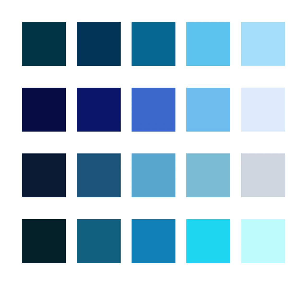Pro stránku jsem zkoušel různé odstiny modré.
