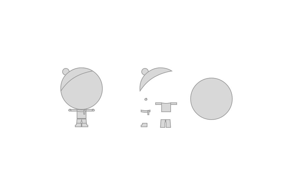 Postava panáčka a jeho jednotlivé části pro symboly.