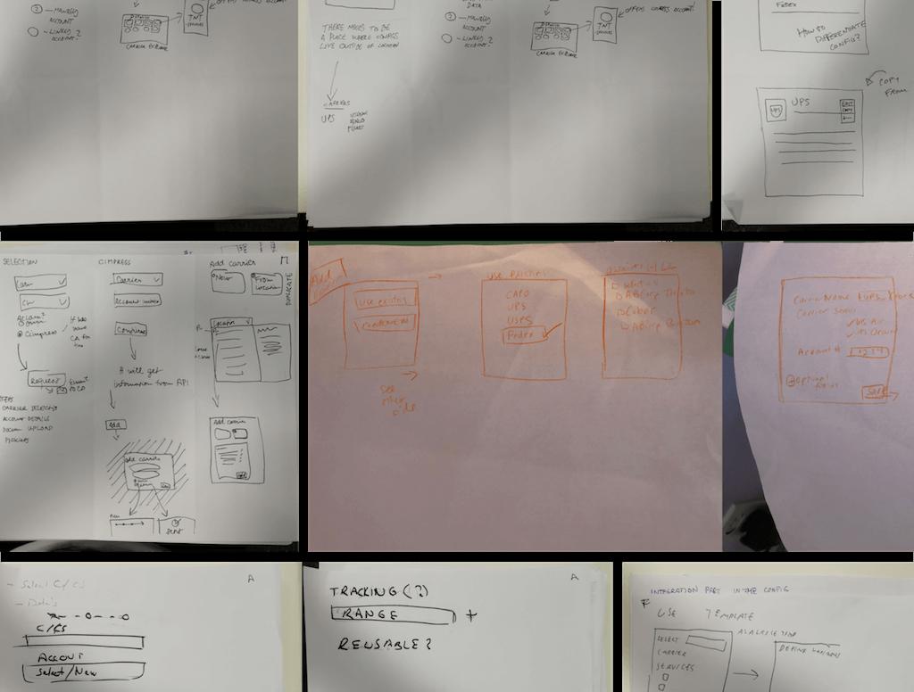 Během designového sezení jsme přišli s různými nápady na řešení.